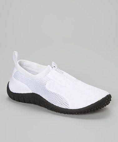 white rockin aqua neon zippers water shoes