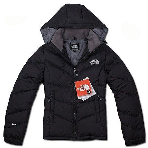 The North Face down black hooded coat | Suh Tah Eel | Pinterest