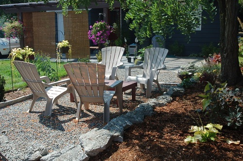 Pea Gravel Patio Diy : pea stone patio with stone bed edging  DIY Projects  Pinterest