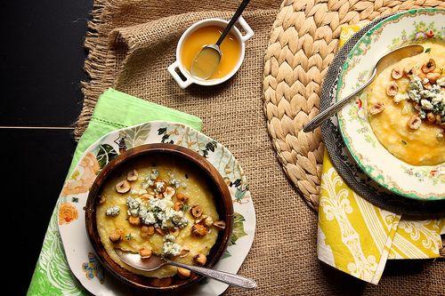 blue cheese hazelnut and honey polenta | Food | Pinterest