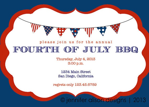 memorial day invitations wording