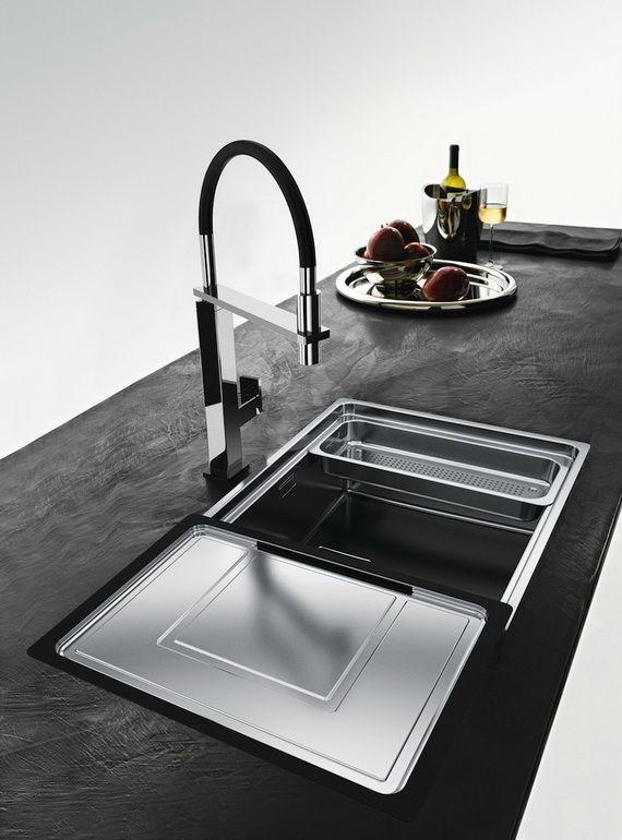 Kitchen Sink Franke : Centinox Kitchen Sinks from Franke with sliding accessories.