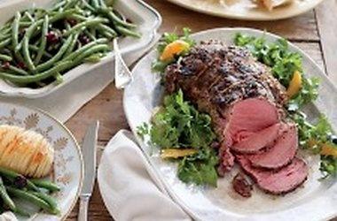 Mustard-Roasted Beef Tenderloin