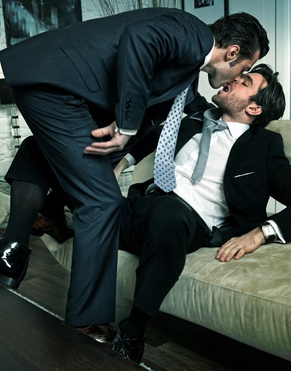 business suits and gay porn