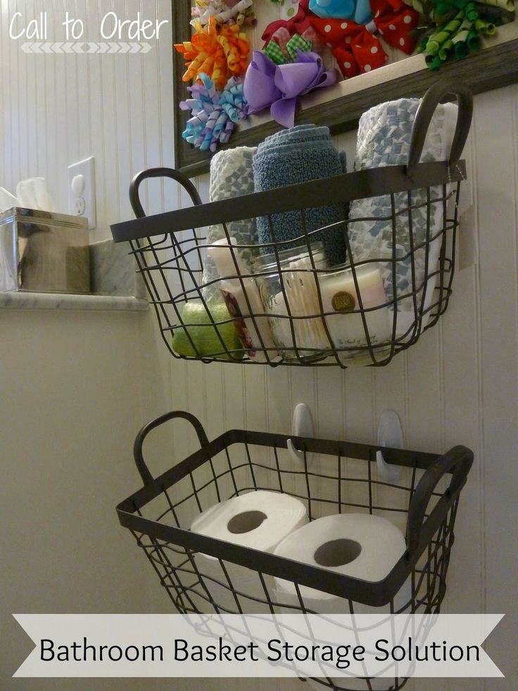 Bathroom Storage Baskets Diy Call To Order Pinterest