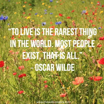 """To live is the rarest thing in the world. Most people exist, that is all."" - Oscar Wilde #quotes #inspiration"