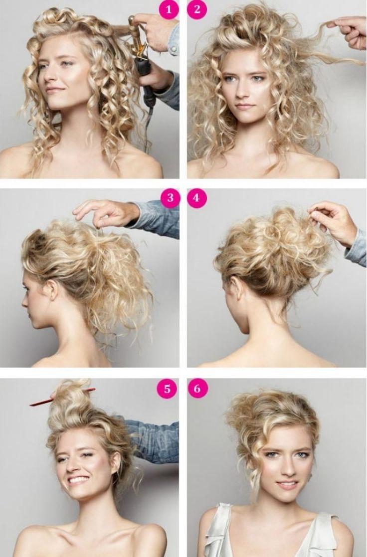Как завитые волосы уложить в прическу