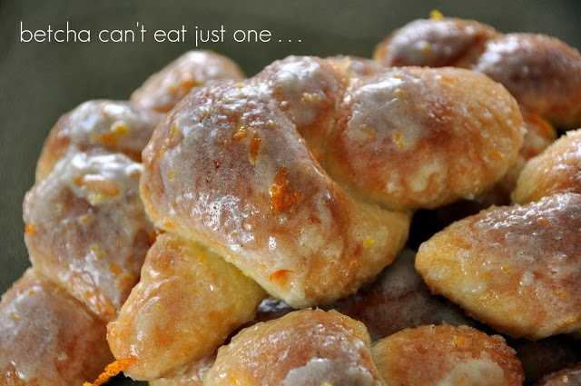CINNAMON and SUGAR GLAZED ORANGE KNOTS | desserts | Pinterest