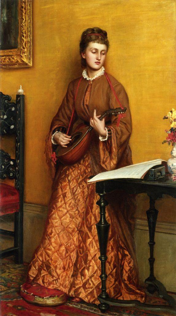 Valentine Cameron Prinsep (1838–1904) -  The Mandolin Player