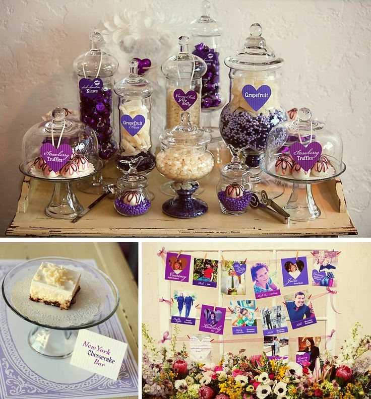 Purple Candy Bar And Wedding