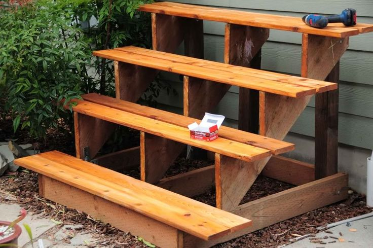 Project tiered plant stand gardening pinterest How to build a tiered plant stand