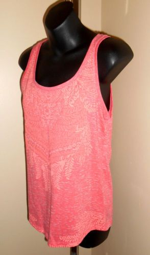 Womens juniors sonoma life style coral pink sleeveless puff top sz xs