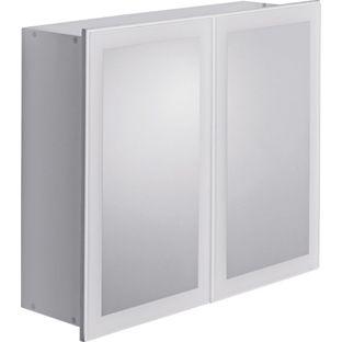 mirror door bathroom cabinet white from