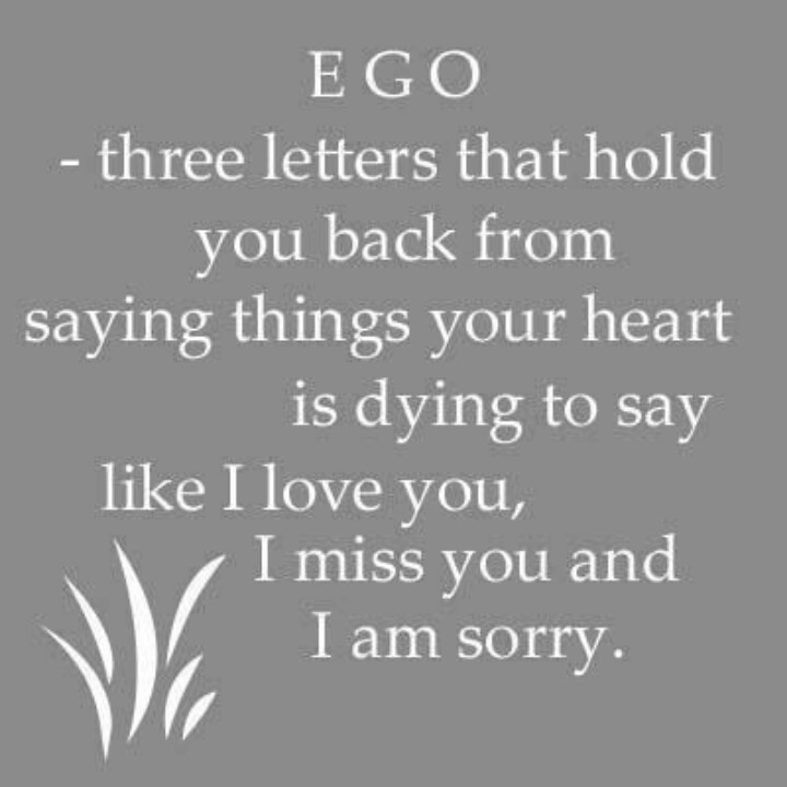 Put Your Ego Aside