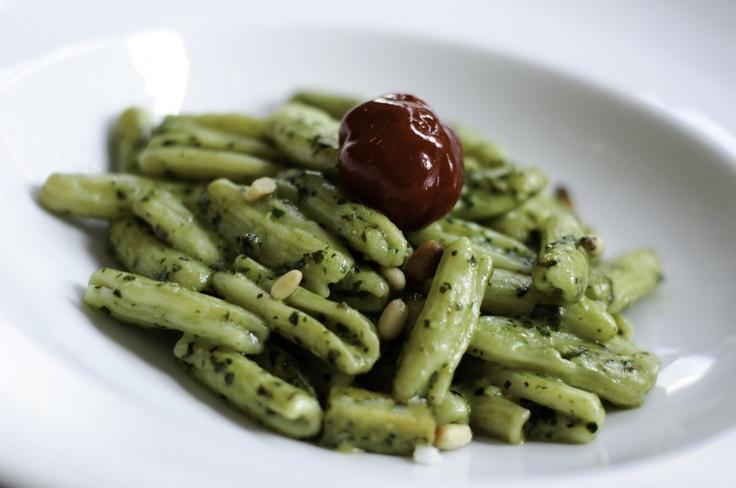Pesto Cavatelli | fresh ricotta pasta, pine nuts, diced potatoes ...