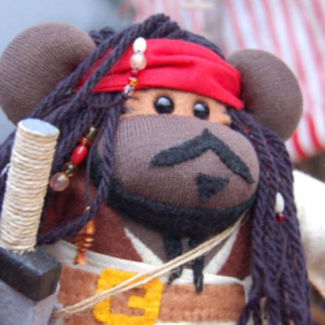 Captain Jack Sparrow sock monkey | Sock Monkey Mania | Pinterest