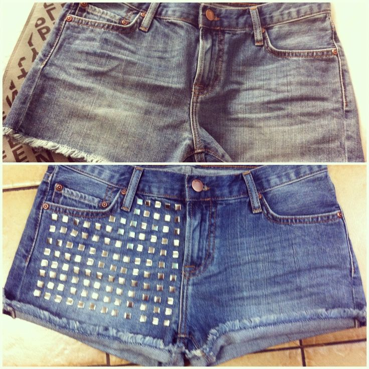 diy studded shorts diy clothes amp accessories pinterest