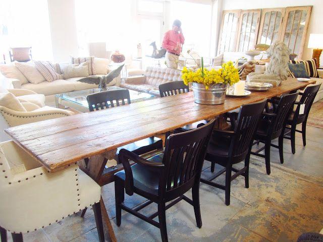 Extra long farmhouse table future home projects pinterest for Extra long farmhouse table