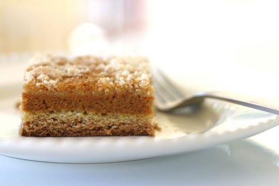 pumpkin crumb cake (substitute gluten free cake mix!)