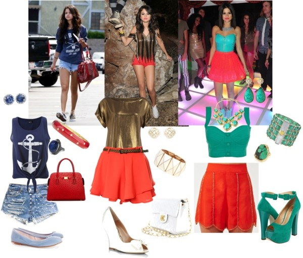 selena gomez style vs my style., created by jazmin2096 on Polyvore