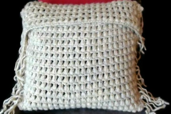 Crochet Cushion Cover in Puff Stitch Crochet For the Home ...