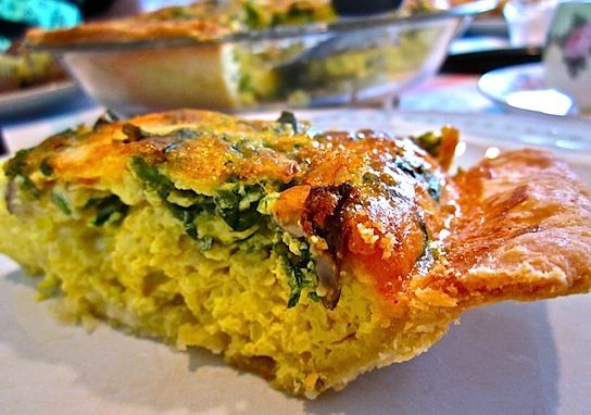 Spinach & Mushroom w/ Asparagus Quiche | foodsforthebelly-oven | Pint ...