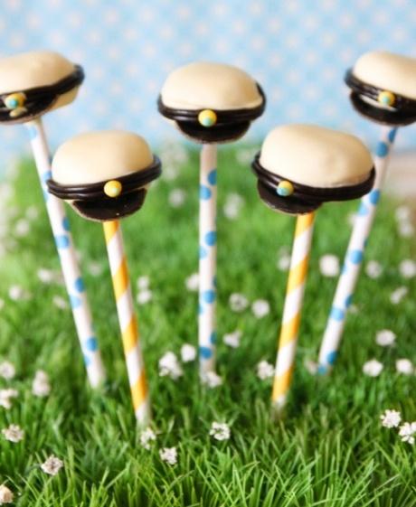 Sailor hat cake pops! | In The Navy | Pinterest