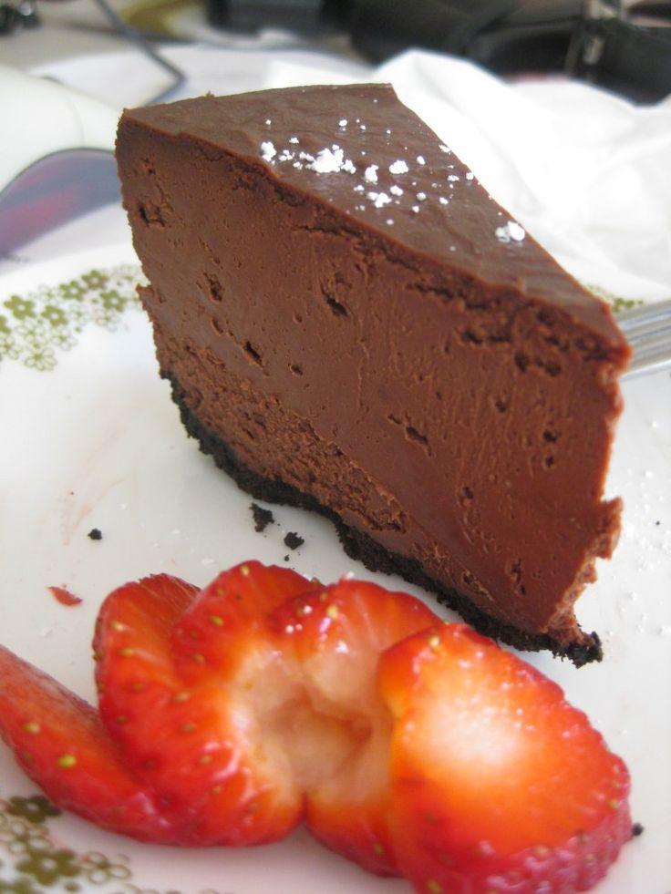 Deep Dark Chocolate Cheesecake | Desserts | Pinterest