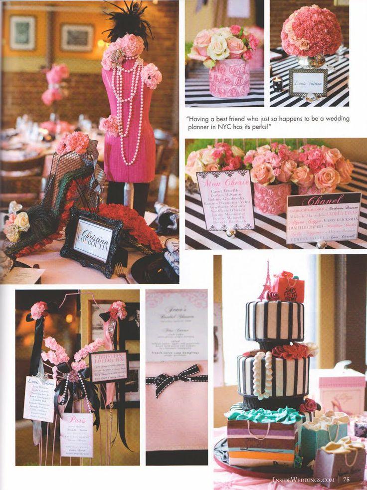 Cute Wedding Shower Decorations : Cute decor for fashionista bridal shower fashion decorations pint