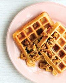 Maple walnut sauce for Buttermilk Waffles.