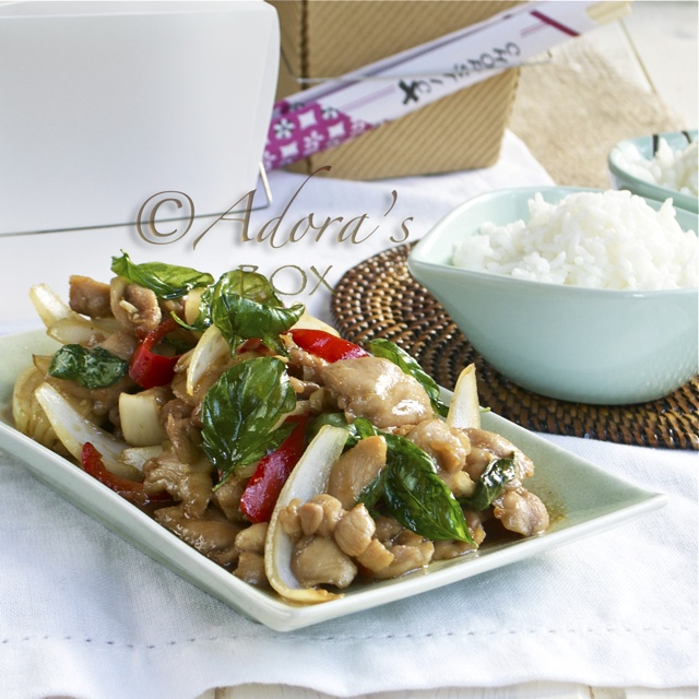 Thai Style Stir Fried Chicken with Basil | Food | Pinterest
