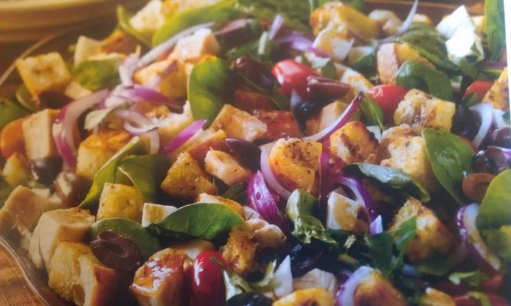 salad. Use 7 slices panne provincio roasted garlic bread. 6tsp olive ...