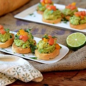 Guacamole Bruschetta- S/O to Chef Block | Nibbles and Sips | Pinterest