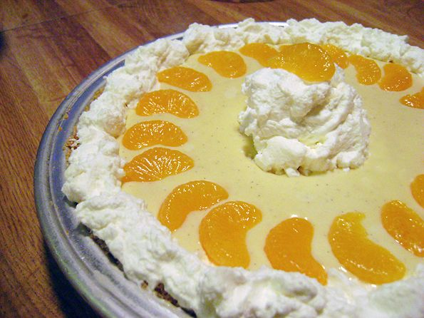 Creamsicle Pie - Custard pies are my favorite. This looks great.