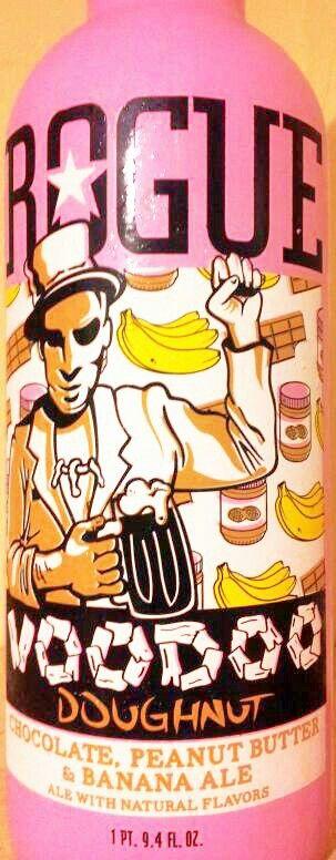 Rogue - Voodoo Doughnut ~ chocolate, peanut butter & banana ale My new ...