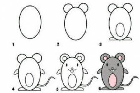 Draw in easy steps activities the education desk for How to draw a cartoon mouse step by step