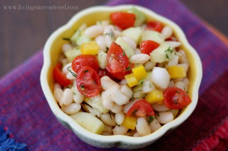 Summer Veggie and White Bean Salad
