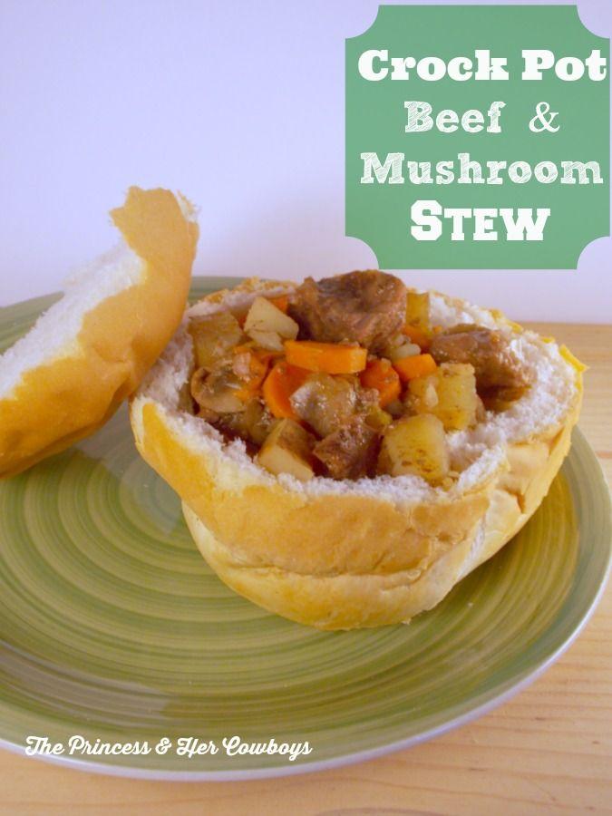 ... & Mushroom Soup l The Princess & Her Cowboys #crockpot #beef #stew