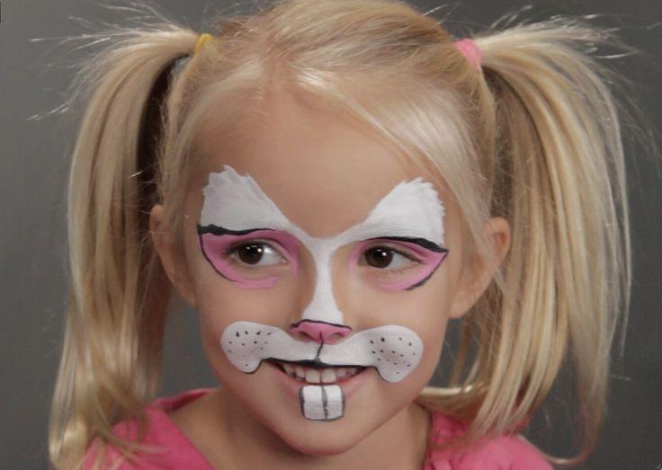 Bunny Rabbit Halloween Face Makeup Bunny Rabbit Face Makeup For