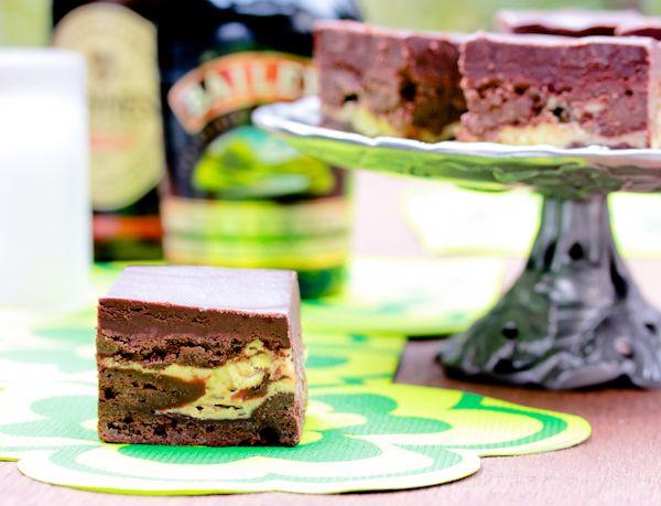 Irish Car Bomb Brownies Recipe — Dishmaps