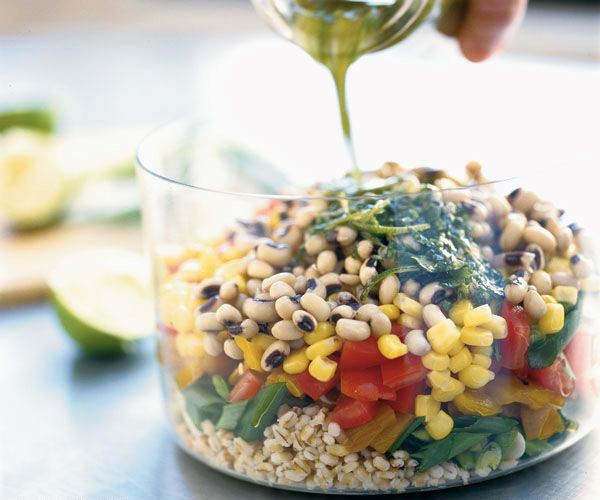 Barley & Black-Eyed Pea Salad Recipe | My favorite recipes | Pinterest