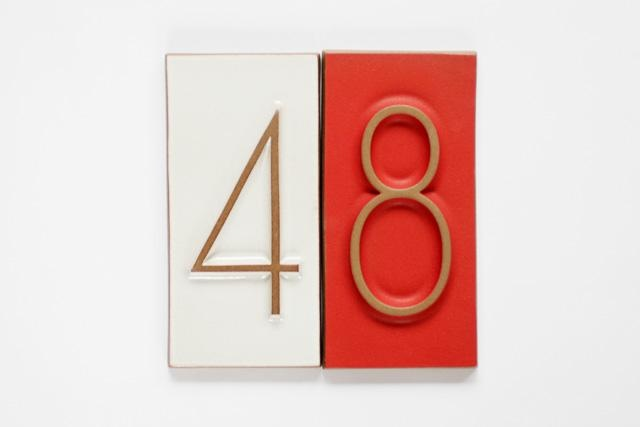 Neutra house industries font heath ceramics house numbers