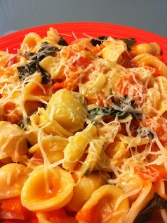 orrechiette with golden tomato sauce | Delicious Potager | Pinterest