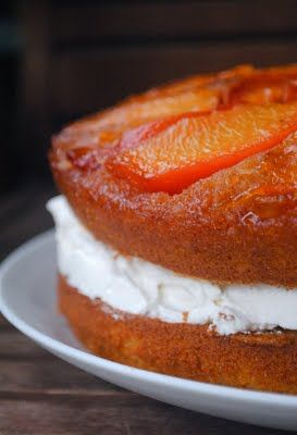 Coconut Peach Upside Cake | Let Them Eat Cake!!! | Pinterest