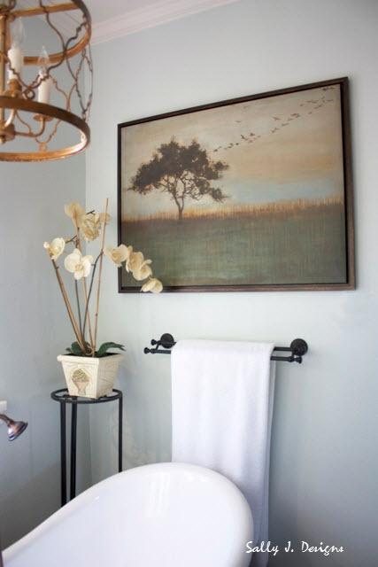 rustic elegant bathroom from the tub sally j designs pinterest