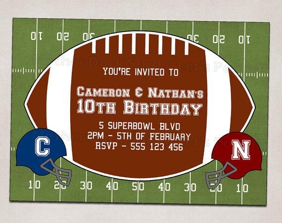 Twins Football Invitation   Birthday Party Ideas   Pinterest