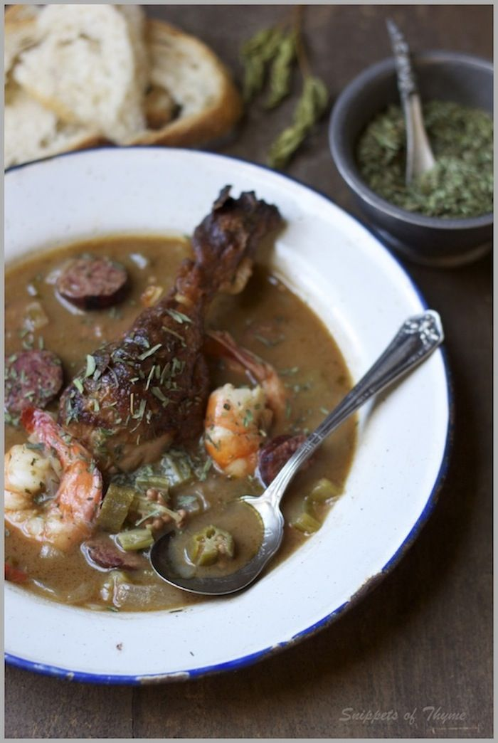 Shrimp, Andouille And Okra Gumbo Recipe — Dishmaps