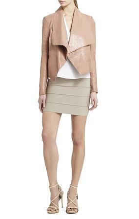 Blush Leather Jacket// BCBG | Passion for Fashion | Pinterest