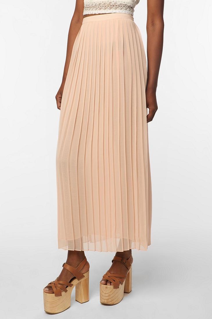 sparkle fade pleated chiffon maxi skirt