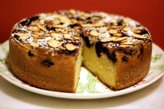 Almond Buttermilk Cake with Cherries....The recipe says you can use ...